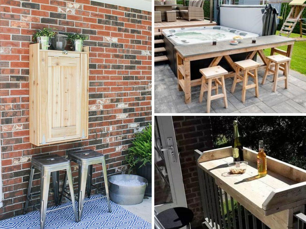 idee de coin bar pour la terrasse