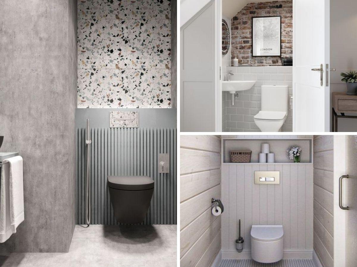 texture bois brique et terrazo dans salle d eau