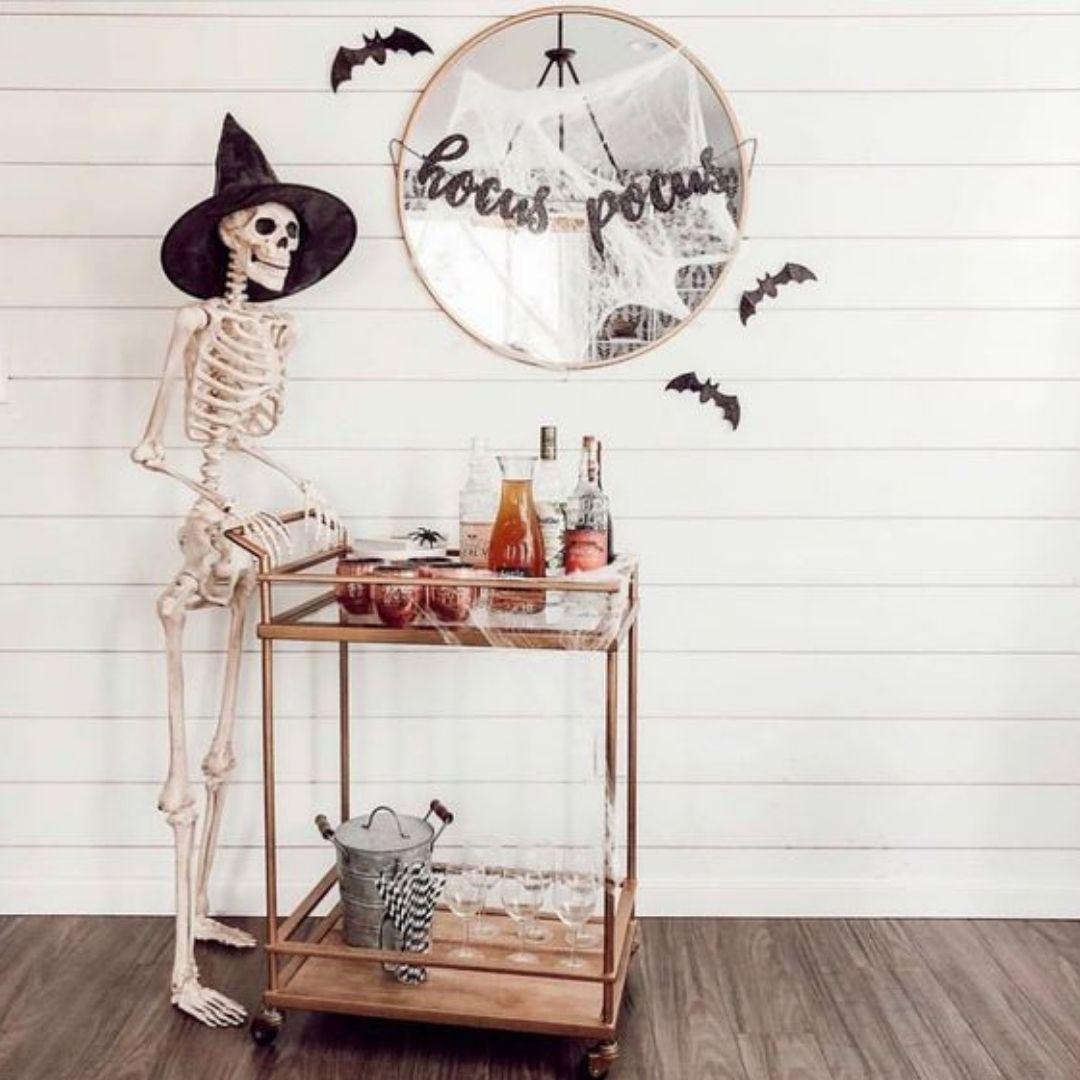 squelette bar halloween