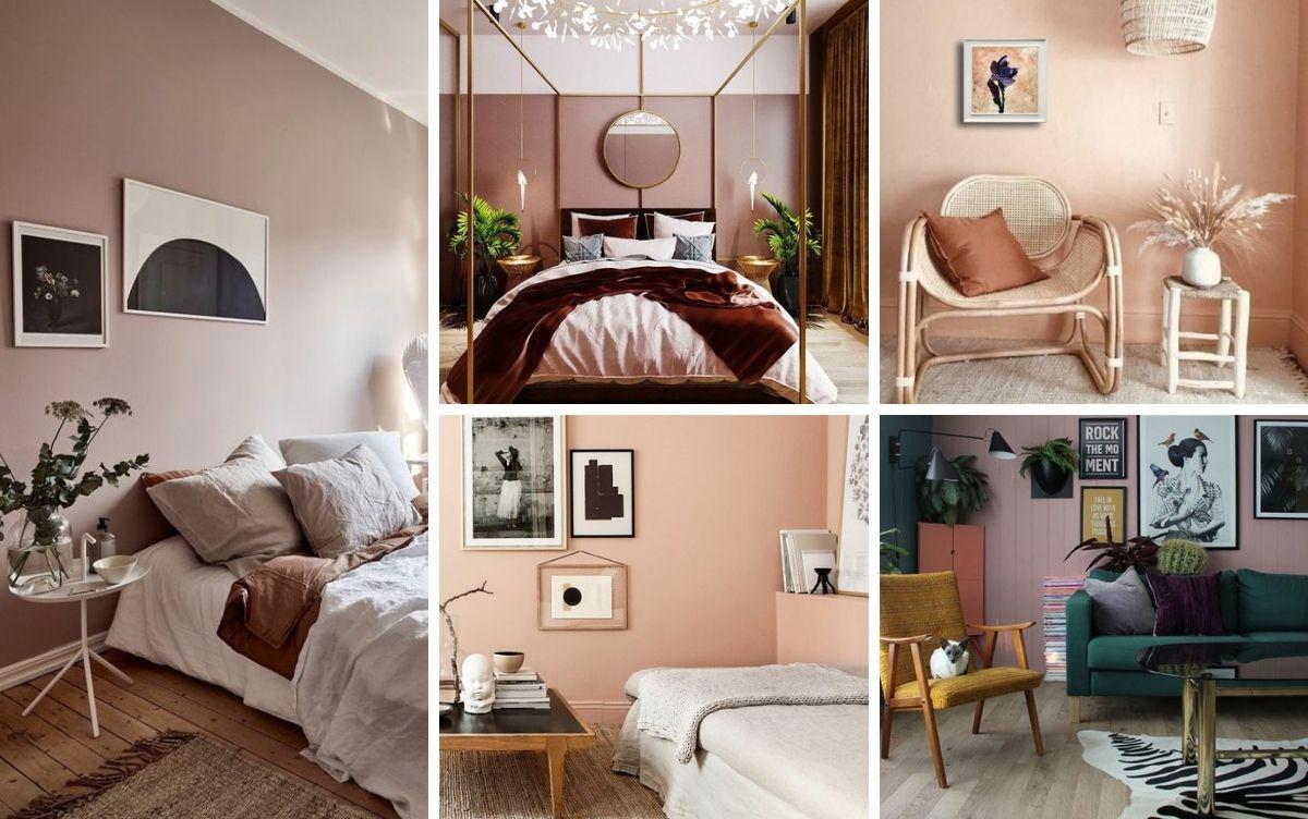 peinture couleur rose pour ambiance relaxe
