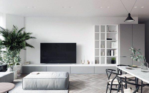 grand meuble bas pour television