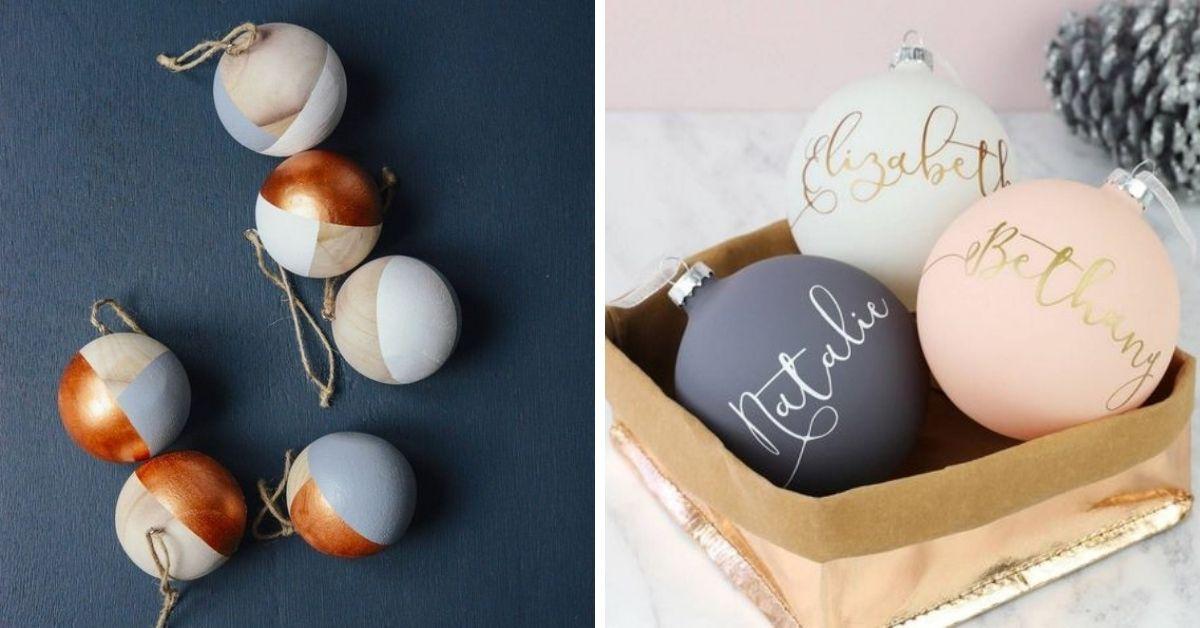 peinturer boules de noel