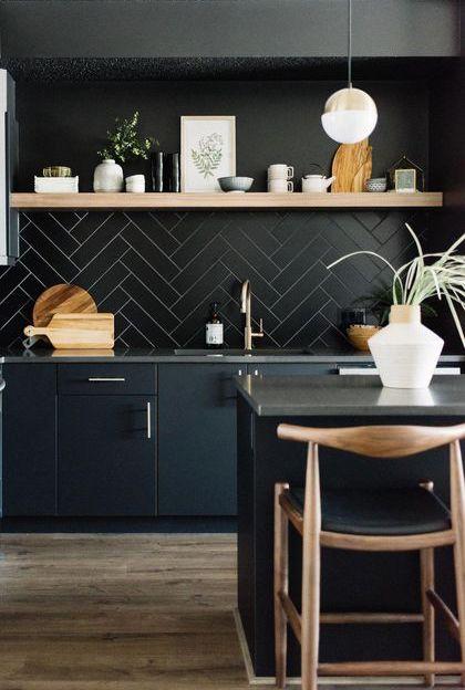 ceramique chevron noire