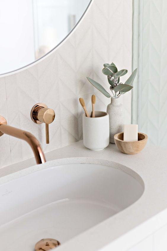 robinetterie salle de bain cuivre