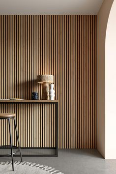 mur latte de bois de travers