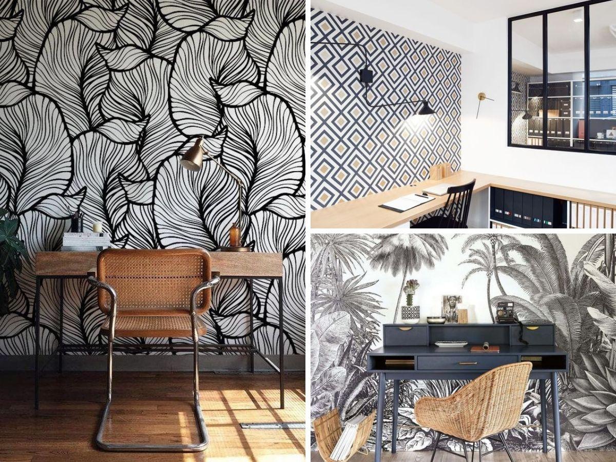 tapiserija u kućnom radnom prostoru