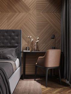 mur moderne en bois