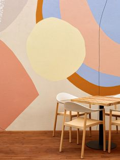mur avec forme geometrique vintage