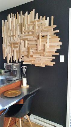 mur creation en petite latte bois