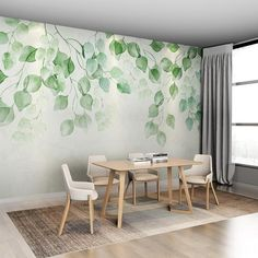 papier peint eucalyptus