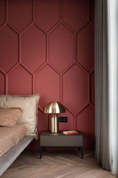 mur effet 3d rose bourgogne