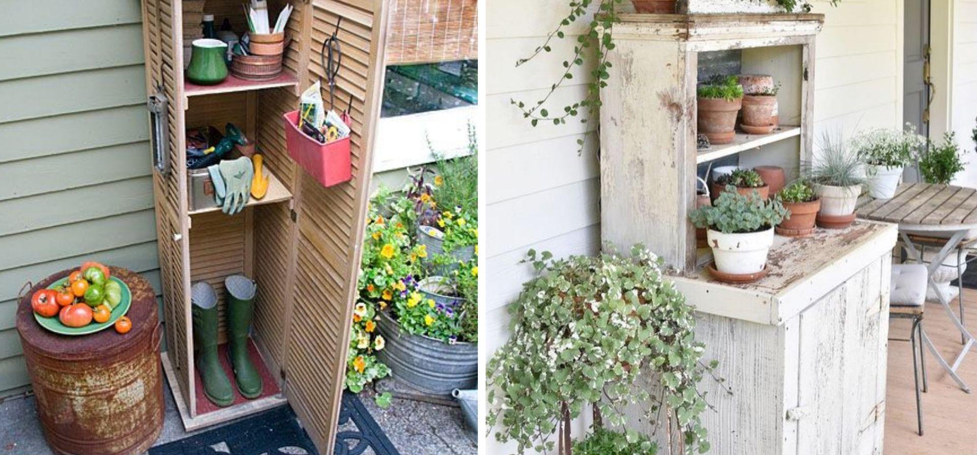 armoire serre materiel jardinage