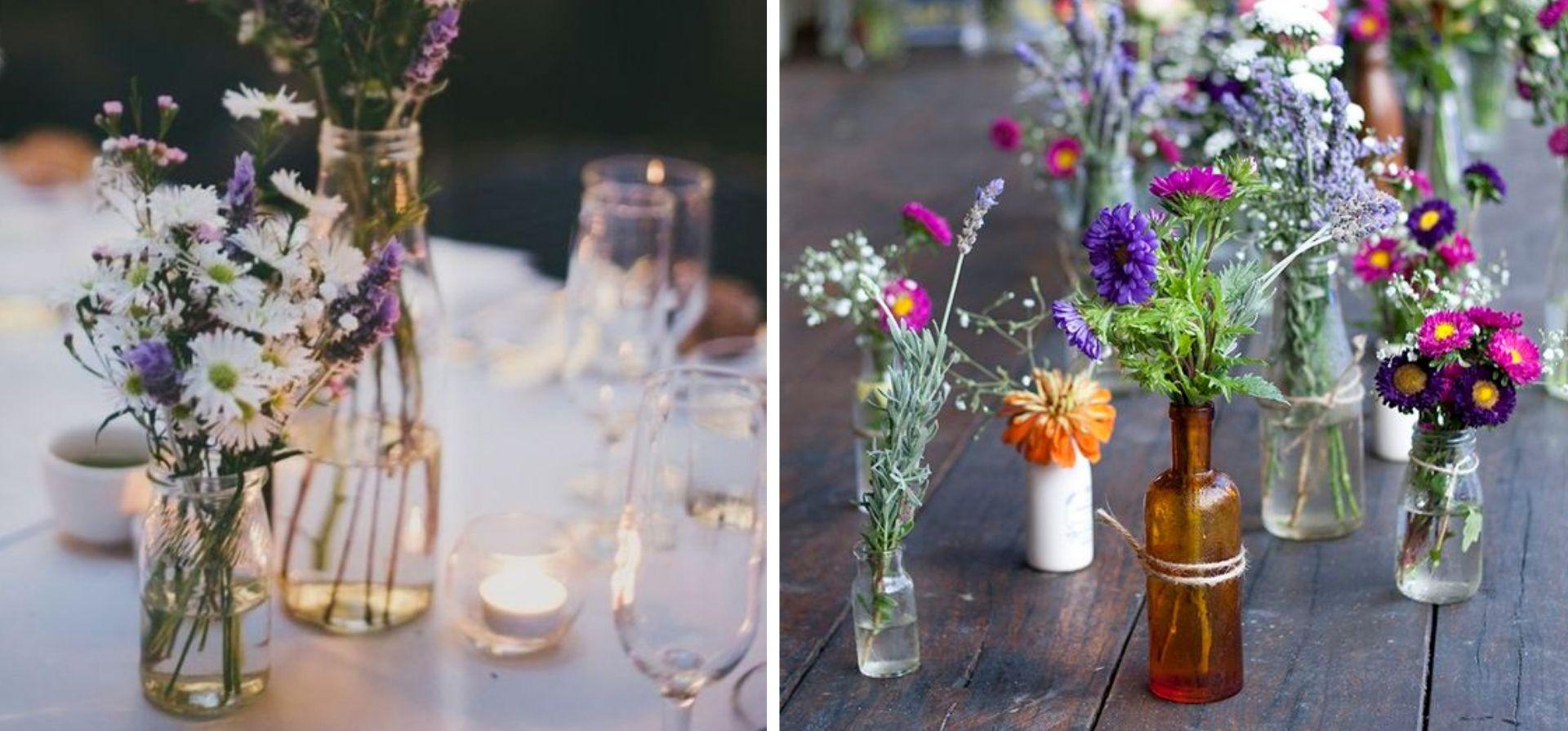 petit contenant verre pour vase decoratif