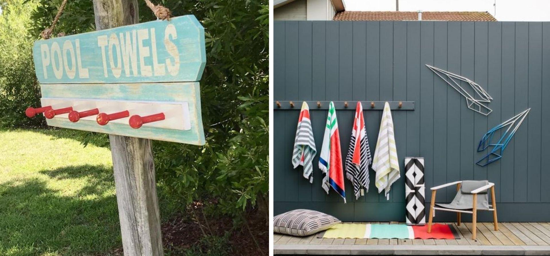 rack a serviette diy